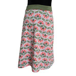GENTLE FAWN Retro Looking Floral Skirt S